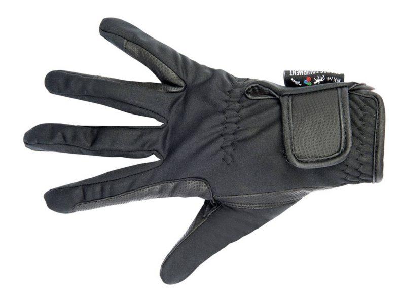 Softshellové zimné jazdecké rukavice HKM