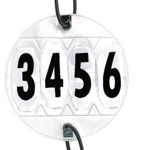 Závodné čísla, pár, nastaviteľné